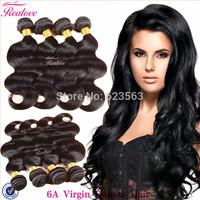 "Brazilian Virgin Hair Body Wave 3/4pc 8""-30"" Human Hair Extension Brazilian Body Wave 5a Unprocessed Virgin Hair Realove cabelo"