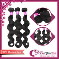 Forawme human hair weave mixed lengths 5A top quality malaysian virgin hair body wave 3 pcs lot hair remy hair extension