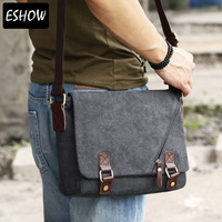 Eshow Canvas laptop bags for men messenger bags for school Fashionable travel bags for men Free shipping BFK010831