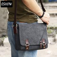 Eshow Canvas laptop bags for men messenger bags for school men shoulder bags BFK010831