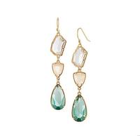 Trendy Bohemian Luxury Drop Earrings18K Rose Gold Plated Crystal Long Dangle Earring For Woman Free Shipping