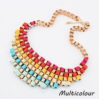 A1002 New Arrival Big Gold Chain Chunky Bib Necklace For Women Statement Necklaces Choker Collar Fashion Jewelry 2013