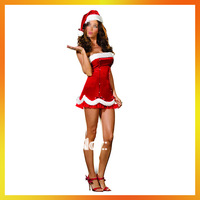 Free Shipping Retail(1 pieces) and Wholesale Sexy Christmas Costumes Carnival  Women Christmas Costumes Bodycon Dress JSWC-0789