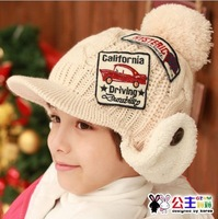 Boy Winter Cap Winter Beret Children Beret Warm Twisted  Cap Ear Protective For Boy Beanies Skullies  Free Shipping 3240