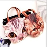 Free shipping!!2013 hot Artmi owl bag women's bag cat pattern big bags cartoon handbag  shoulder bag the cat