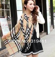 2013 classic plaid scarf Women pashmina grid scarf lady soft neckerchief shawl with tassel SC0258