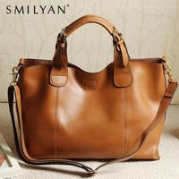 Smilyan 2014 new women genuine leather handbags high quality fashion vintage women messenger bags women leather shoulder bags