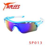 Panlees UV400  Running Cycling Glasses Sports Sunglasses Interchangeable Eyewear Frame Mirror Flash Lens