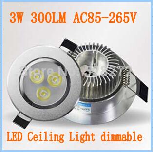 Versandkostenfrei 10pcs/lot, 3x1w 3x3w led obergrenze strahler warmweiß/kaltweiß ac85-265v 3w 9w led-strahler lampe