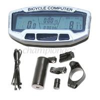 3PCS/LOT New Digital LCD Backlight Bike Bicycle Computer Odometer Speedometer SD558A Clock Stopwatch B16 2659