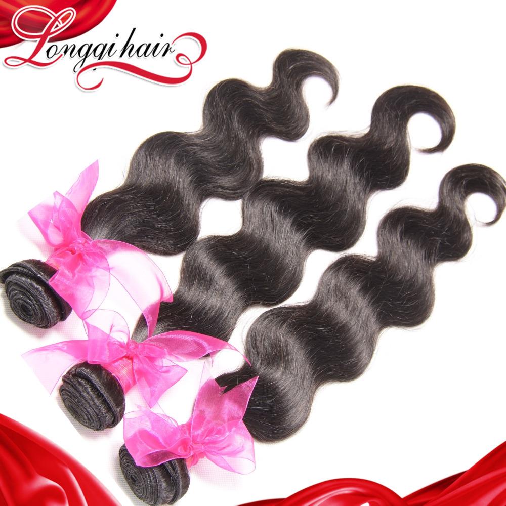 3PCS Lot 6A Brazilian Virgin Hair Body Wave, Unprocessed Virgin Brazilian Body Wave Hair Extension Wholesale Human Hair Weave(China (Mainland))