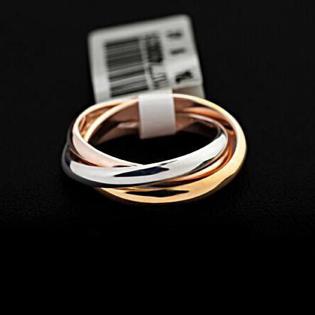 Marke luxus weiß/rosé vergoldet triple Ton tri- Rolle Links oben klassisches design ehering ring für frauen und männern( ga062)