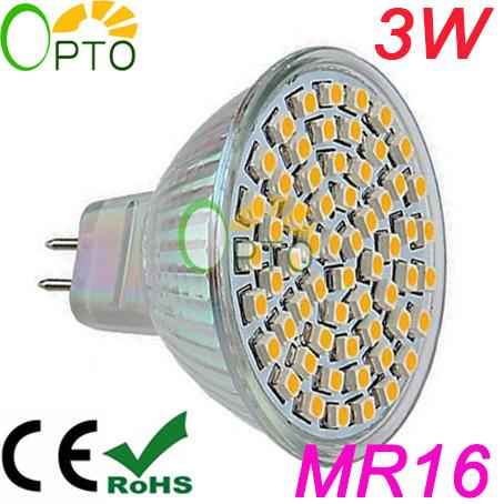 Neue Jahr versandkostenfrei 6 stück/lot high lumen 3w mr16 sockel 12v led spotlight beleuchtung glühlampe licht smd3528 60 stück