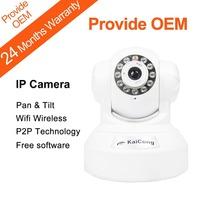 IP Camera P2P Plug and Play Wireless WiFi PNP Baby Monitor Pan&Tilt Lens 3.6mm M-JPEG Built-in Microphone Black KaiCong Sip1606