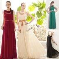 Free Shipping New Fashion Bohemia Sleeveless Beach Long Dress Multi-color Long Paragraph Ultra Chiffon Full Dress SV001189 B002