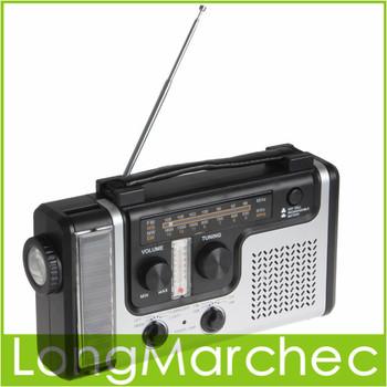 Portable Hand-Crank Dynamo or Solar All-In-One Lantern Radio