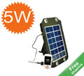 Portable solar charger+5W/6V+Travelling Bag design + Fee Shipping