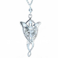 The Arwen Evenstar Pendant Necklace Platinum Plated Fashion Movie Jewelry Free Shipping Promotion