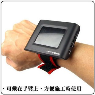 Free Shipping!! High Quality !!2.5 inch LCD monitor Wrist CCTV Tester