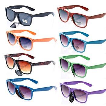 50pcs/Lot 2014 Fashion Sunglasses Women 80s Retro Designer Mirror Sunglasses Mens Vintage Colorful  Classical Glasses Unisex