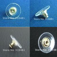 250pcs/lot Ear nail Ear Stud earbob Rubber Back Earring Stoppers Findings FGR29