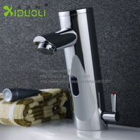 Xiduoli Free shipping Brass Quality Guarantee automatic faucet Basin Faucets 2012 new Cold&Hot water basin mixer XDL-1514