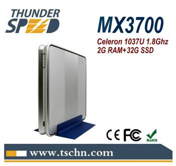 New Windows Mini PC Thin Client MX3700 Intel Celeron 1037U Dual Core 1.8Ghz HDMI VGA 2G RAM 32G SSD Windows/Linux OS