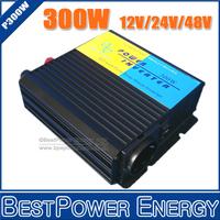 Free Shipping, Input DC12V/24V/48V to AC110V/220V 300W Professional Pure Sine Wave DC to AC Power Inverter, Solar Inverter
