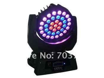 1Pcs 37Pcs*10W Led Moving Head Wash Light,3in1 Tri-Color Led Moving Head Light Amazing Effect RGB Color,Dmx Stage Light 13/21Chs