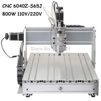 2014 Router CNC 6040 Z-S65J 800W CNC Engraver Engraving Machine Free shipping