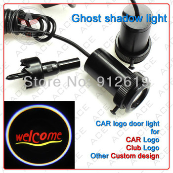 PROMOTION New product~! Fourth Generation door logo light projector /3D lights/ LED welcome lighting/ for all car