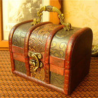 2013 New handmade wood vintage box for jewelry  fashion vintage wedding favors wholesale and retail