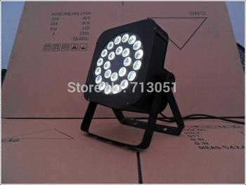 4pcs/lot Quad Par can 24x12W RGBW LED Flat Par Light,24pcs Quad LED Slim PAR Up Lighting Party Llight