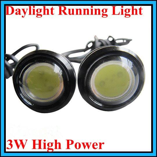 2pcs/lot Wholesale High Power 3w Eagle Eye Lamp Car LED Light Screw Led Car Reversing Light Led Daytime Running Light(Hong Kong)