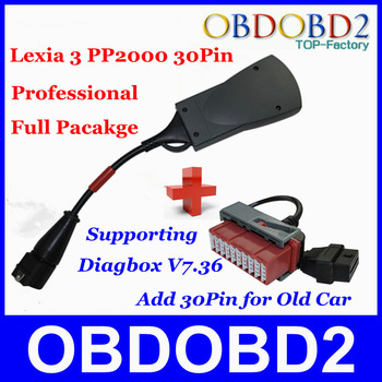 Top Related PP2000 V25 Lexia 3 V48 Add 30 Pin Cable For Citroen Peugeot  Diagnostic Newest Diagbox to V7.36 PP2000 30PIN