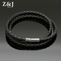 Free Shipping, Factory Wholesale Fashion knitted 3 layers buckel PU leather bracelet, Best Gift