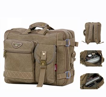 "Brand designer canvas 14"" laptop mochila backpack for men Tactical mens tote shoulder messenger computer bags A214 Free shipping"