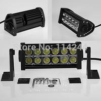 36W watt 2500lm LED Light Bar Offroad LED Work Light Drive Wide Flood Beam Fog Light For 4WD Truck SUV ATV Boat free shipping
