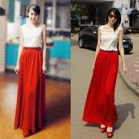 Free shipping!10color,90/100CM,retail women long chiffon skirt,ladies maxi skirt,women ankel-length skirt