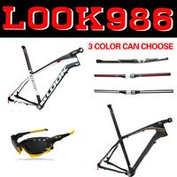 look 986 26er frame LOOK 986 E-Post Mountain carbon bike frame/MTB FRAME with stem free handlebar+sunglasses Mountain bike