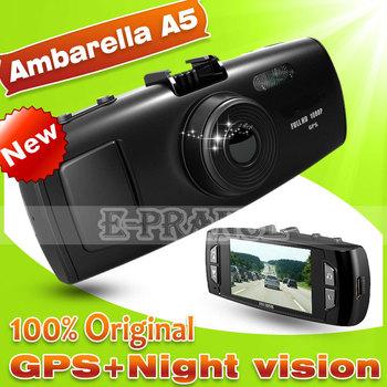 100% Original GS6000 Ambarella A5S30 GPS Car DVR Full HD 1080P +GPS Logger+G-Sensor+120 Degree Lens