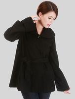 wholesale 5 pces autumn winter black women female ladies casual wool liner coat jacket outwear sweater top WM98543 freeshipping
