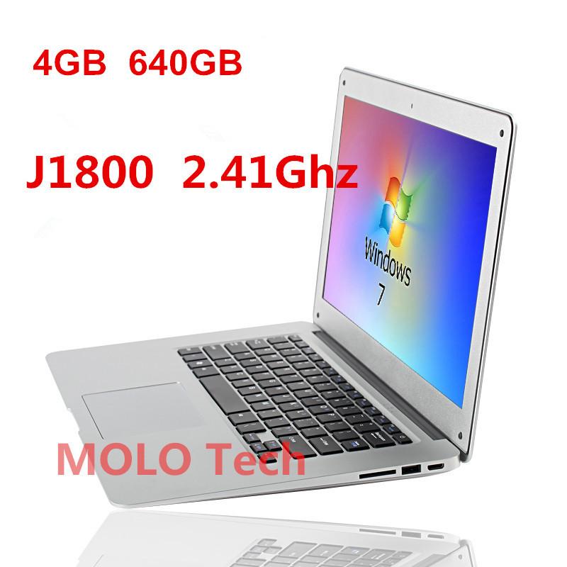 Ordinateur portable ordinateur portable pouces 14 ultrabook 1920*1080 hd. 4go écran ddr3 640gb hdd livraison gratuite caméra wifi intel dual core