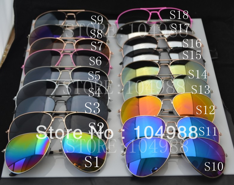 FREE SHIPPING 2013 New Arrival Men Women Loved Unisex Fashion Sunglasses Aviator Sunglasses 25 Colors High Quality Low Price(China (Mainland))