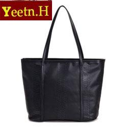 0391HOT SALE!!  New 2014  Fashion black crocodile pattern big black bags women's  vintage leather messenger bag