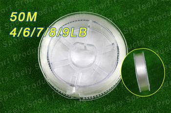 Free Shipping 50m 100% Japanese Fluorocarbon Material Leader Fishing Line 4lb 6lb 7lb 8lb 9lb