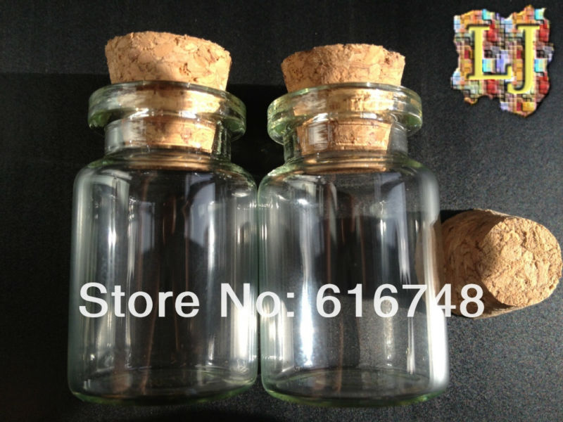 Free Shipping-100pcs 6ml glass bottle with wood cork,Mini glass bottle,Tube Wishing bottle,storage bottle,glass jars,sample vial(China (Mainland))