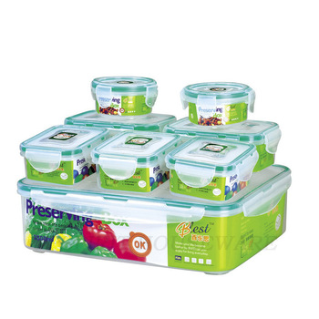 2015 New 8 pcs food grade organizer for food plastic food storage box vacuum lunch box kitchen boxes for food