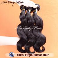 "Ms Lula Peruvian Virgin Hair Body Wave Extensions 3pcs lot,Grade 6A Peruvian Body Wave Peruvian Hair 8""-30""100%Human Hair Weaves"
