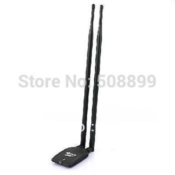 New 4200mW High Power 150M USB Wireless N Wifi Lan Network Adapter 2 x 9 dBi Antenna Ralink 3070 Free Shipping